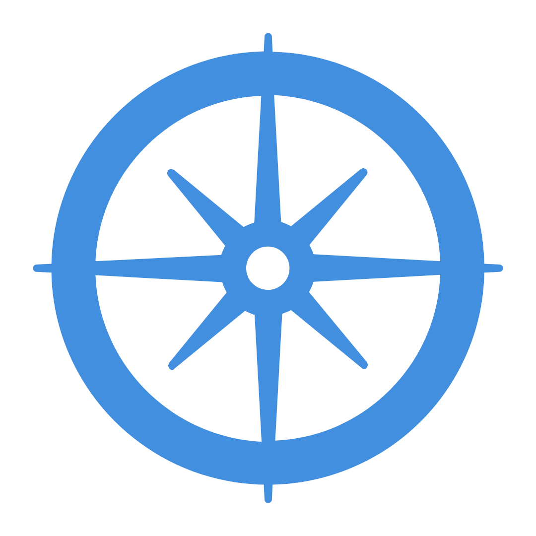 Explore icon with a compass